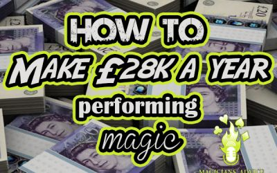 How to earn £28k a year as a professional magician.
